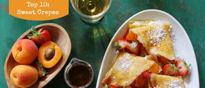 Top 10 Sweet Crepes on Rainbow Delicious