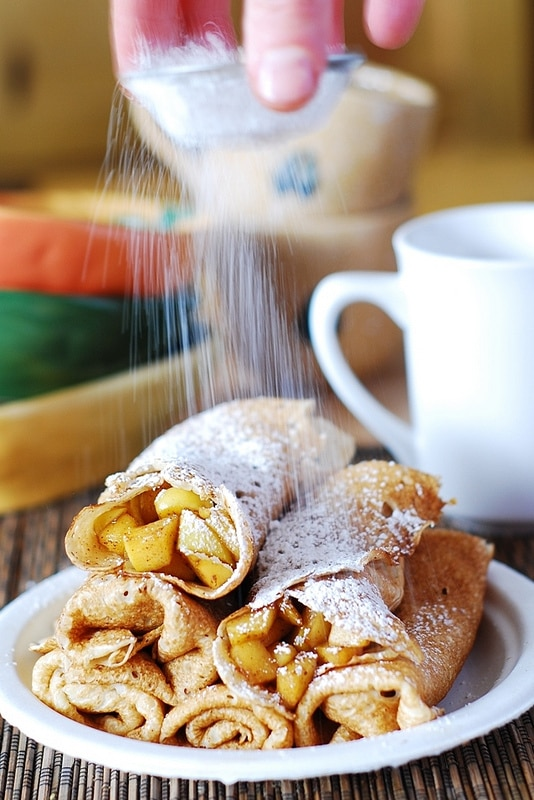 Sweet Crepe Recipes : apple cinnamon crepes
