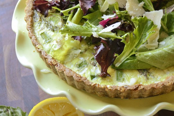 asparagus and leek spring quiche