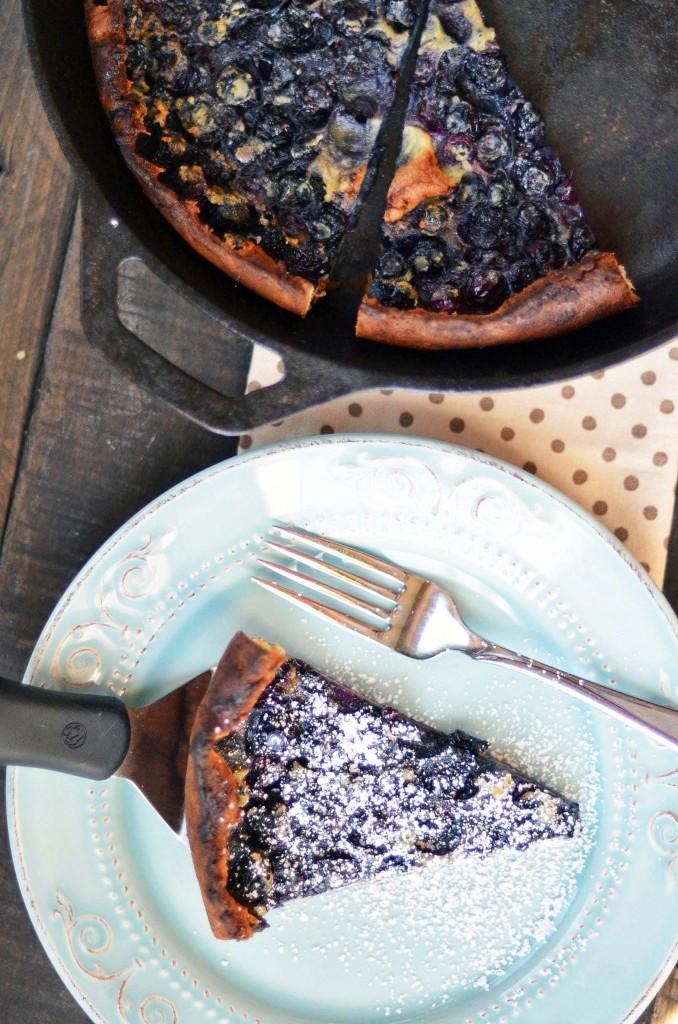 Dutch Baby Pancake Recipes : blueberry lemon dutch baby