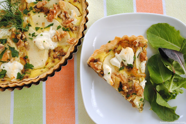 caramelized fennel and apple tart