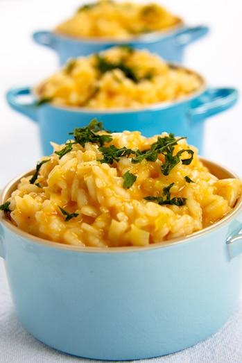 cheesy leek risotto
