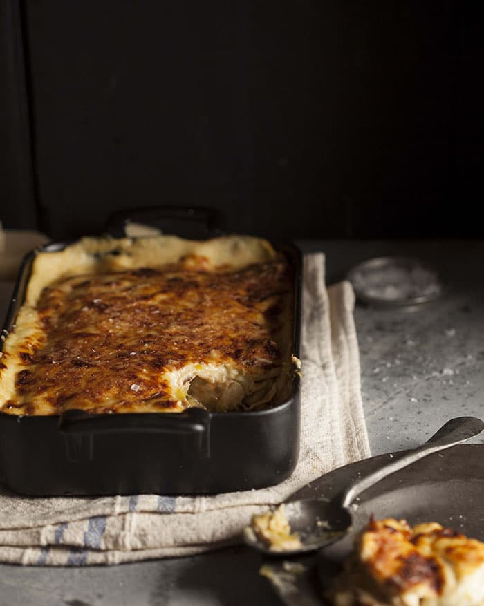 chicken leek pancake bake