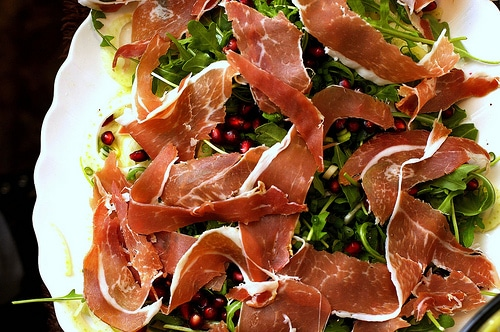 fennel proscuittio pomegranate salad