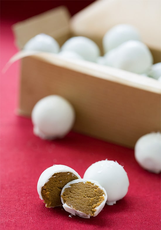 homemade truffles- gingerbread cookie dough truffles