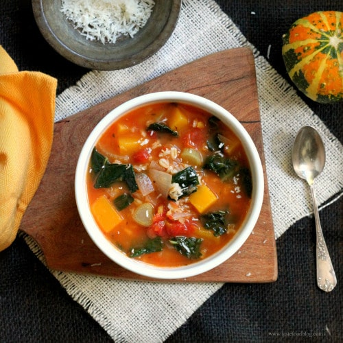 harvest vegetable soup with fennel