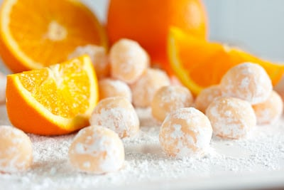 homemade truffles- orange creamsicle truffles