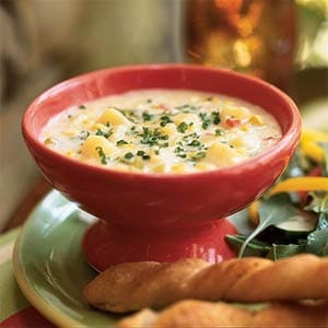 potato leek and corn chowder