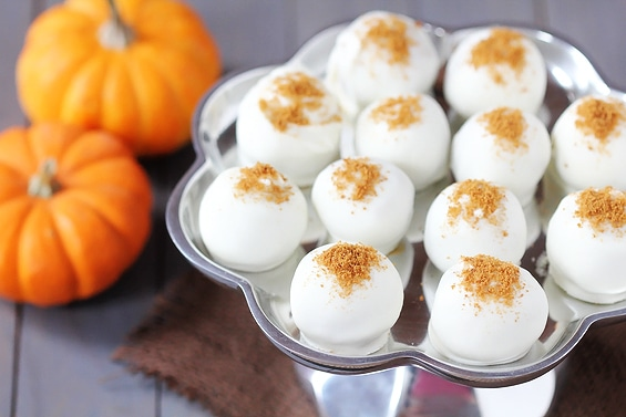 homemade truffles- pumpkin cream cheese truffles