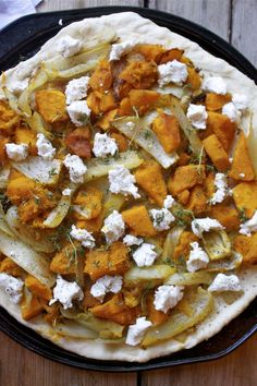 roasted fennel squash thyme pizza