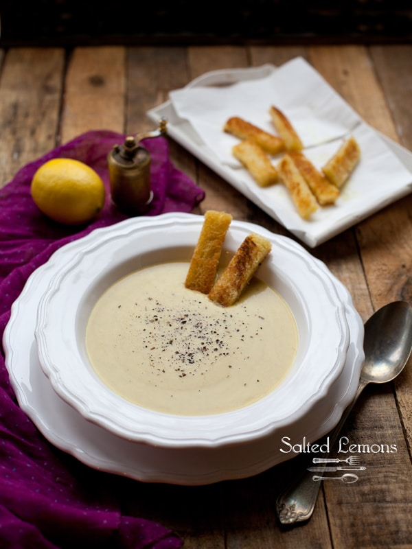 velvety cream of potato leek soup