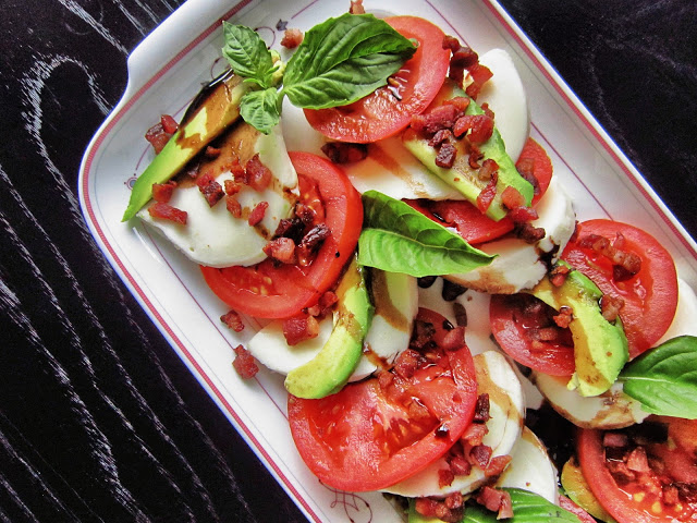 california caprese with pancetta