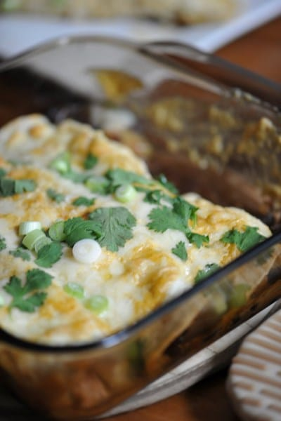Enchilada Recipes : chicken and swiss chard enchiladas