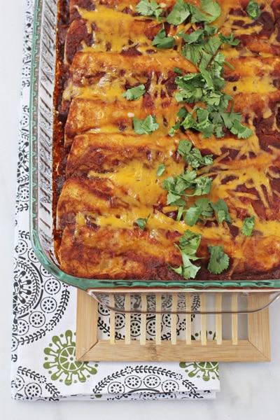 Enchilada Recipes : chicken, black bean and vegetable enchiladas