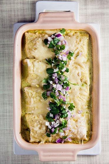 Enchilada Recipes : chicken enchiladas with poblano sauce