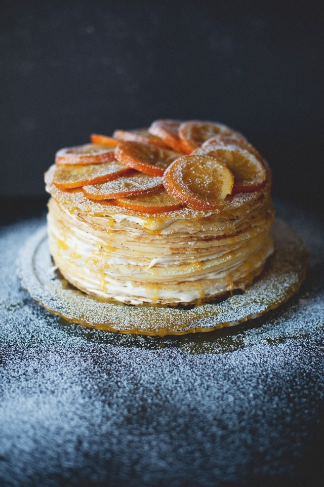 gluten free orange crepe cake