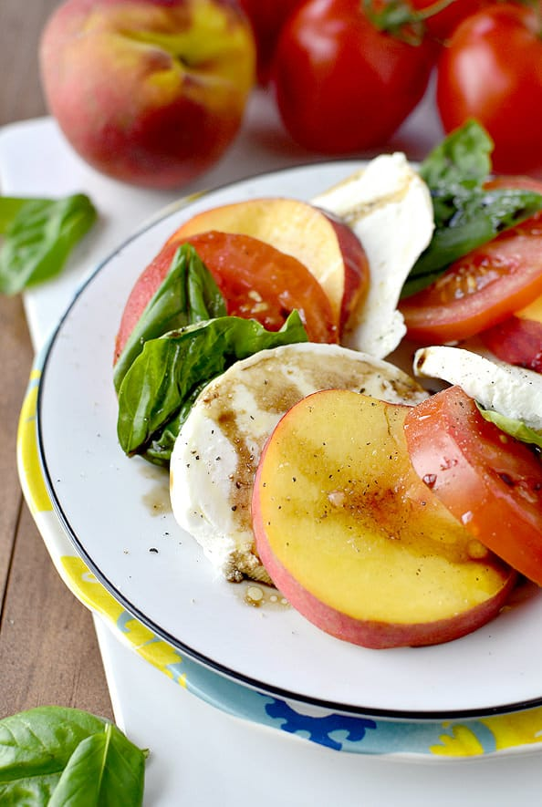 peach caprese salad unique Caprese Salads