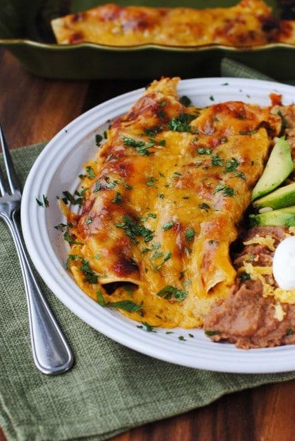 Enchilada Recipes : shredded beef enchiladas with best homemade red sauce