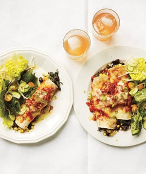 Vegetarian Enchilada Recipes : slow cooker bean and spinach enchiladas