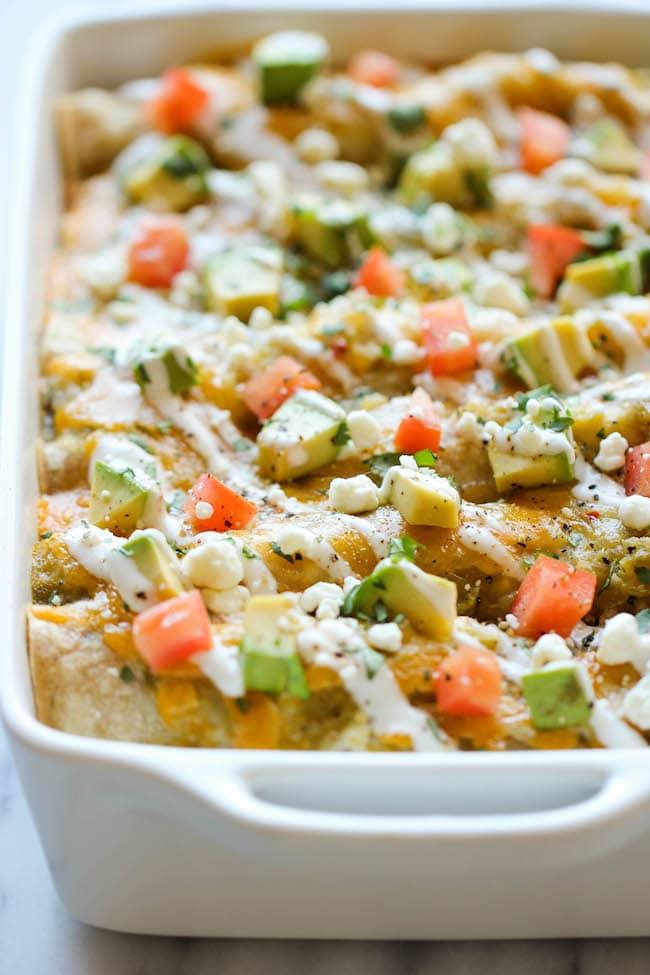 Vegetarian Enchilada Recipes : sweet potato enchiladas