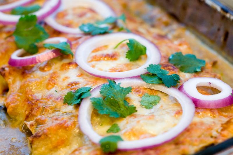 Vegetarian Enchilada Recipes : swiss chard enchiladas in a tomatillo sauce