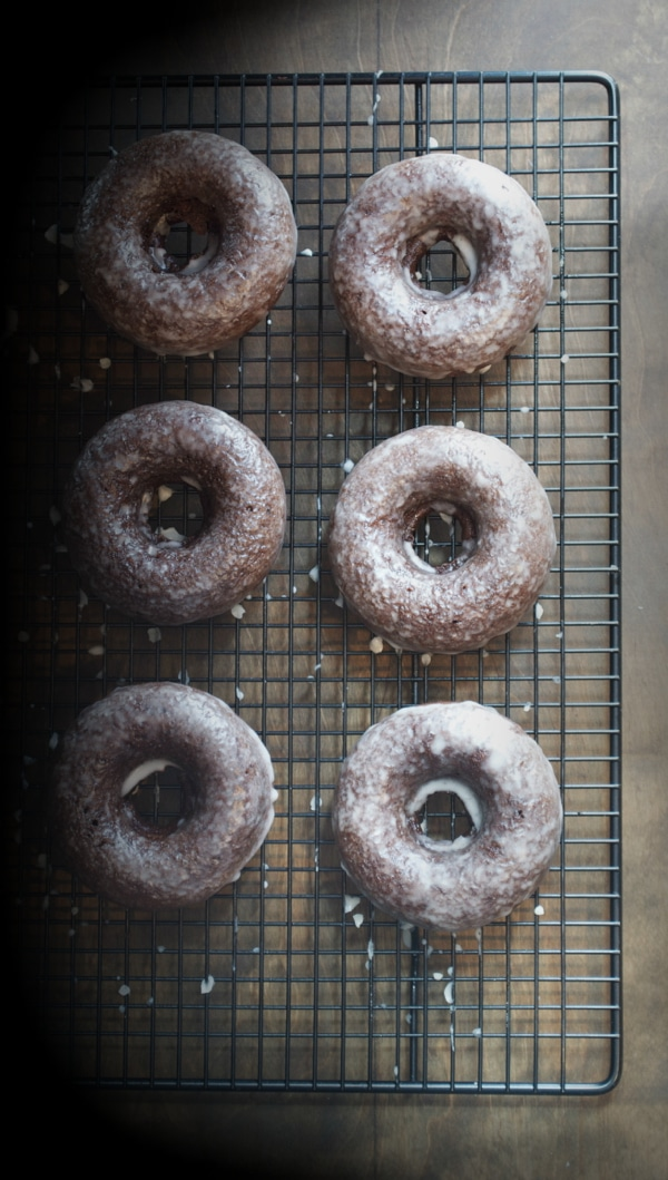 Baked Chocolate Glazed DOnuts from Taste Love and Nourish