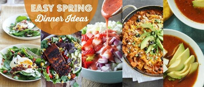 Easy Spring Dinner Ideas Rainbow Delicious