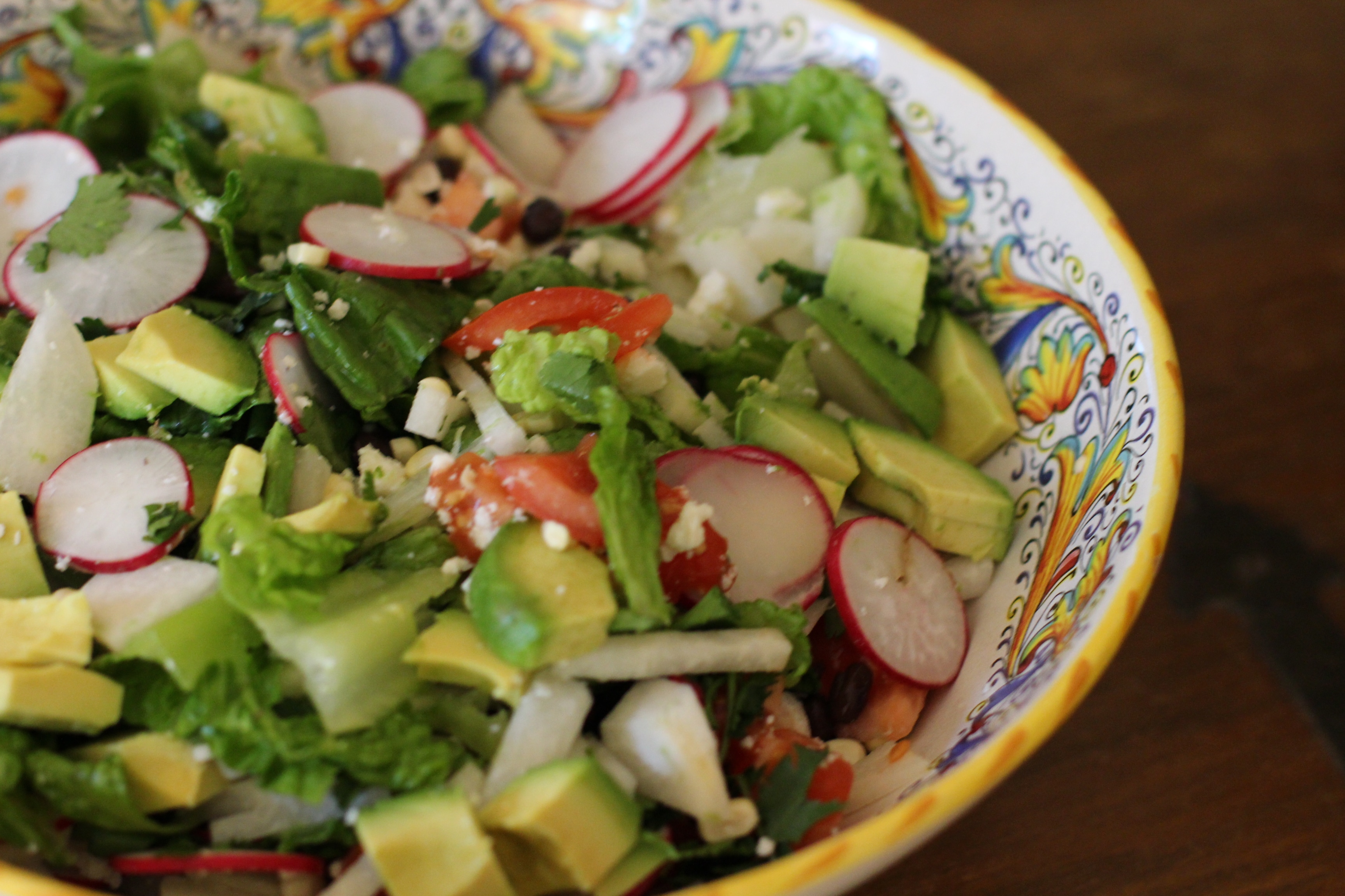 Black Bean, Radish, Jicama and Avocado Salad