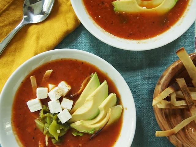Easy Spring Dinner Ideas- Tortilla Soup