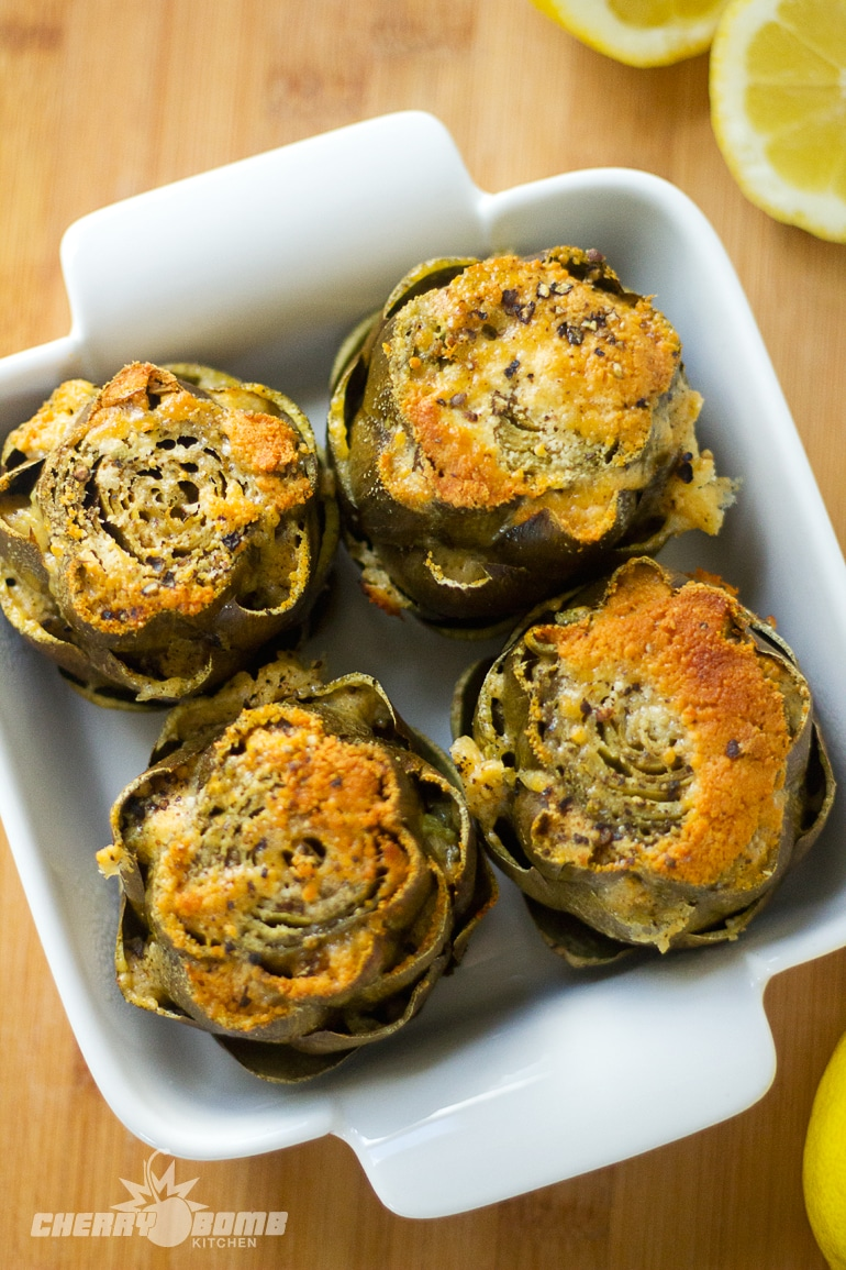 Artichoke Recipes : baked artichokes