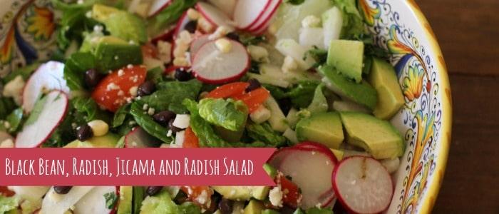 Black Bean, Radish, Jicama and Avocado Salad