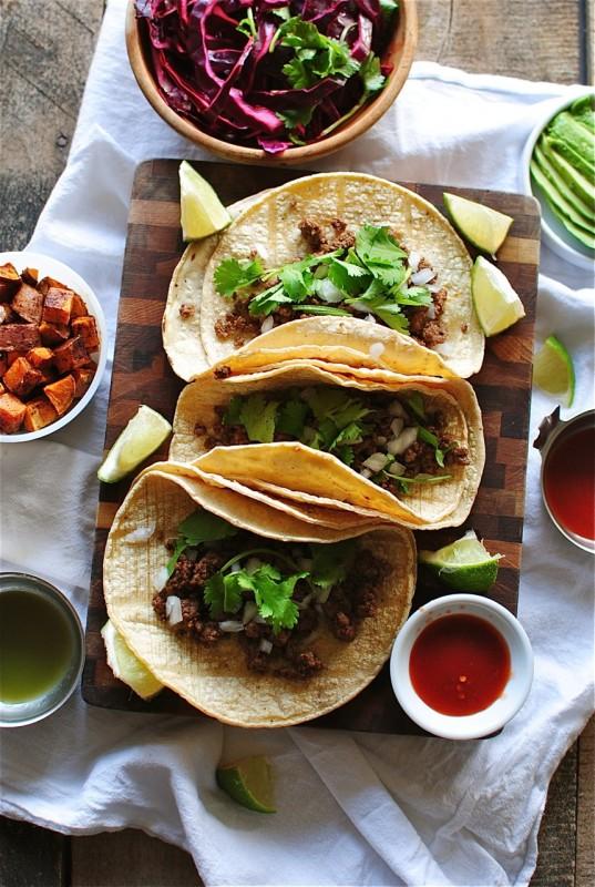taco recipes: simple beef street tacos
