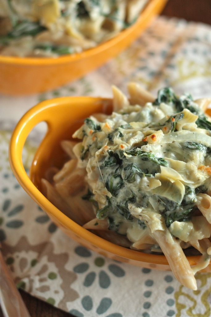 Artichoke Recipes : spinach mac and cheese