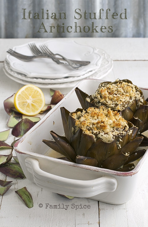 Artichoke Recipes : stuffed purple italian artichokes