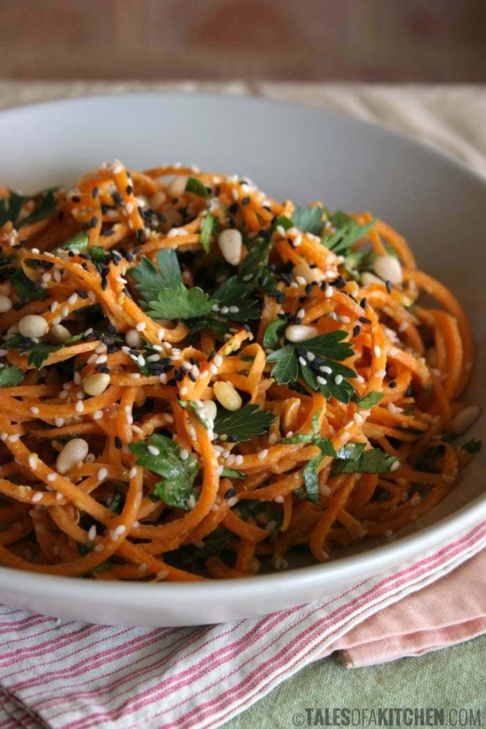 vegan carrot pasta