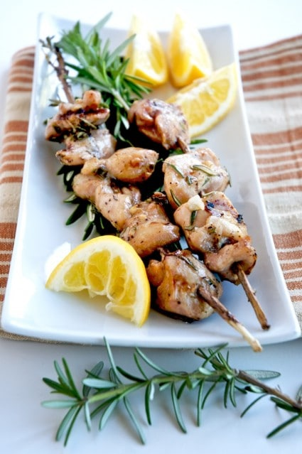 Chicken Rosemary Skewers