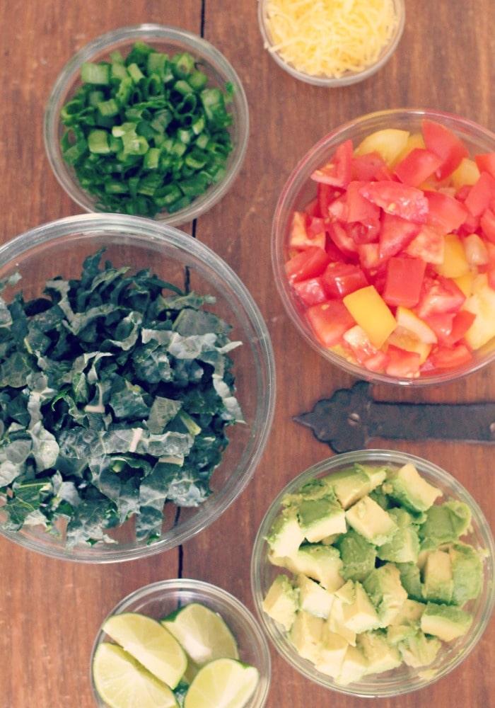 Farmers Market Crepe Ingredients
