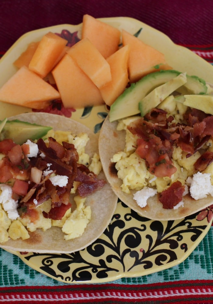 breakfast tacos on Rainbow Delicious