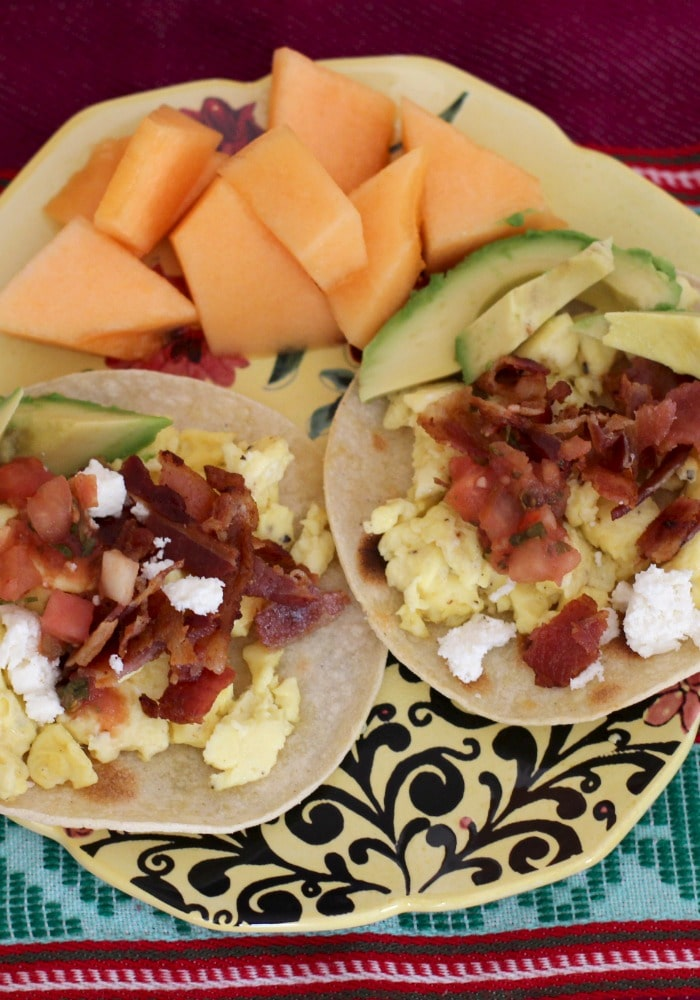 breakfast tacos rainbow delicious