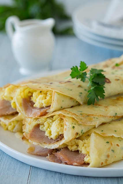 Crepe Recipe Savory Ham