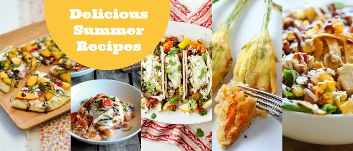 Delicious Summer Recipes Meal Plan on Rainbow Delicious
