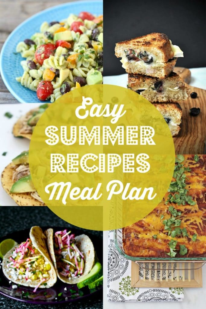 Easy Summer Recipes Meal Plan