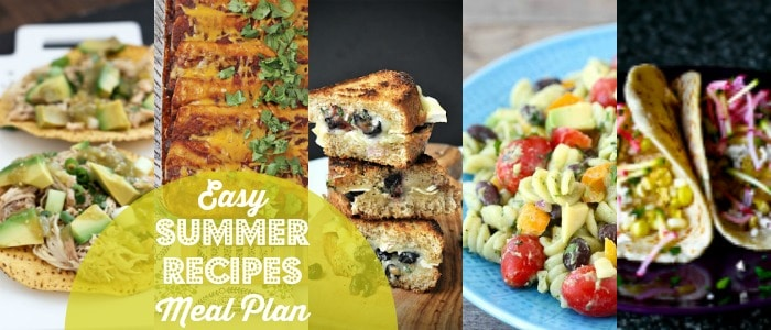 Easy Summer Recipes Meal Plan on Rainbow Delicious