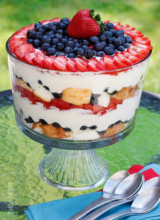 berry triffle- fourth of july recipes