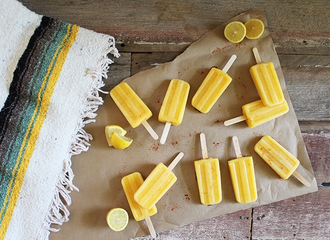 paleta pineapple mango cayenne popsicles