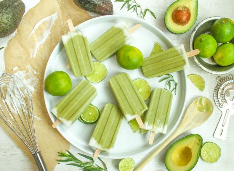 tropical avocado popsicles