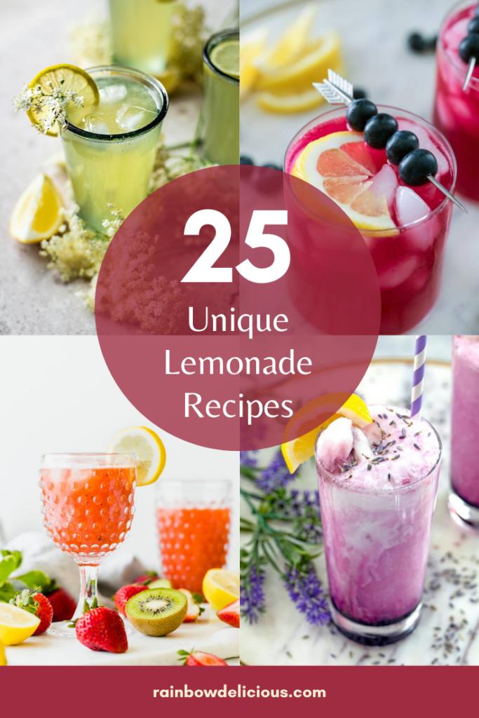 25 Unique Lemonade Flavors