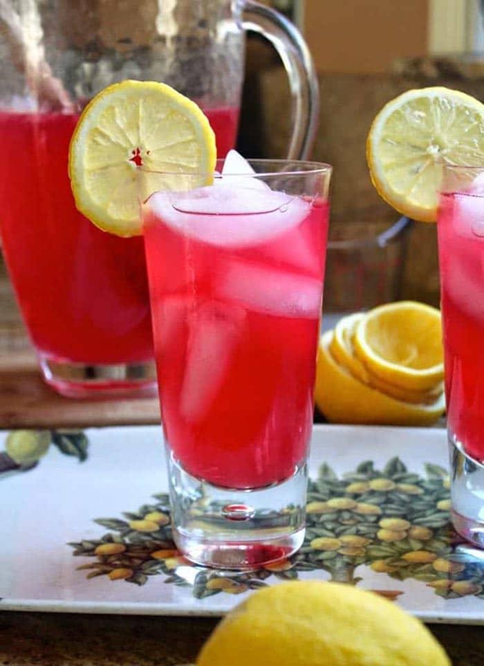 cranberry lemoande - unique flavor lemonade