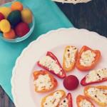 Feta Stuffed Bell Pepper Recipe Rainbow Delicious