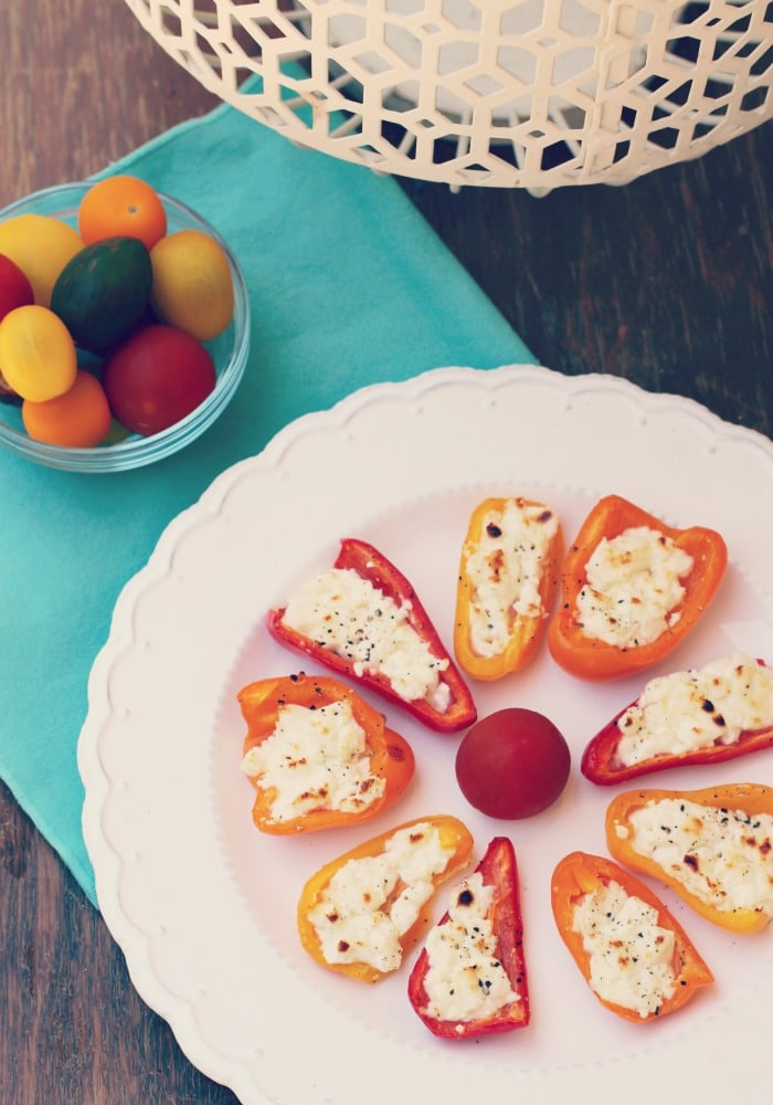 Feta Stuffed Bell Pepper Recipe | Rainbow Delicious